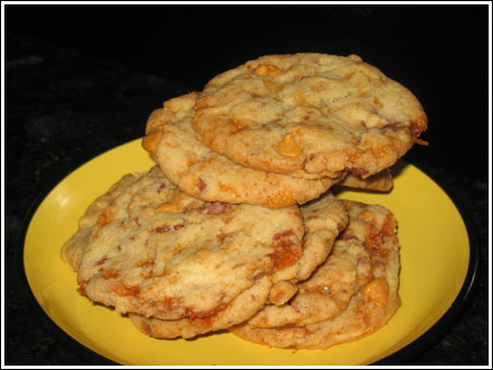Butterfinger Cookies with Butterscotch Morsels - Cookie Madness