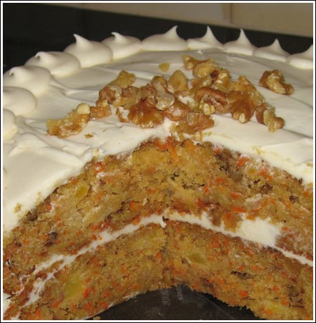 two layer carrot cake