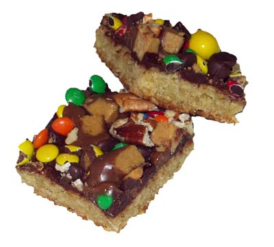 Oatmeal Cookie Bars with Chocolate Icing - Cookie Madness