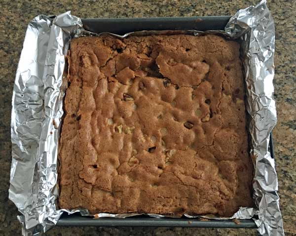 macadamia blondies