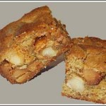 Maple Butterscotch Macadamia Blondies