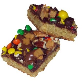 Oatmeal Cookie Bars with Chocolate Icing