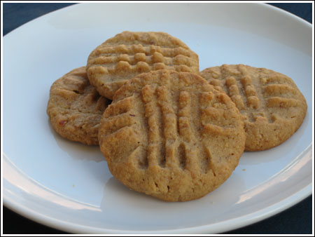 Peanut Butter Cookies with Honey and Wheat Germ
