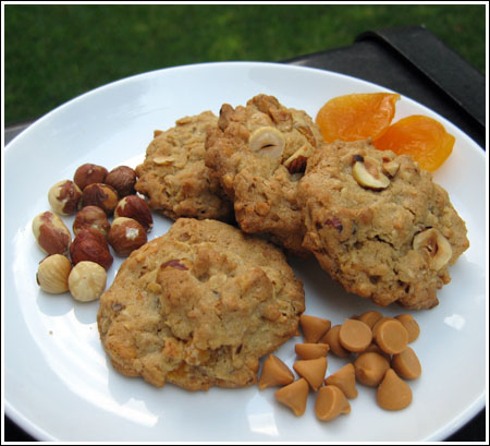hazelnut oatmeal cookies