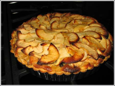 Apple Walnut Raisin Tart with Frangipane