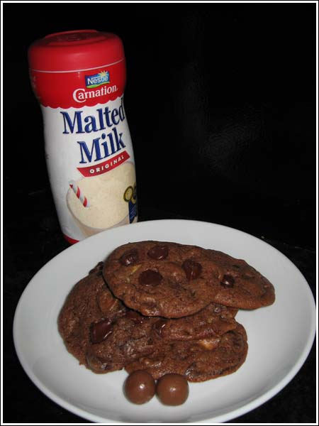 Chocolate Malt Whopper Cookies