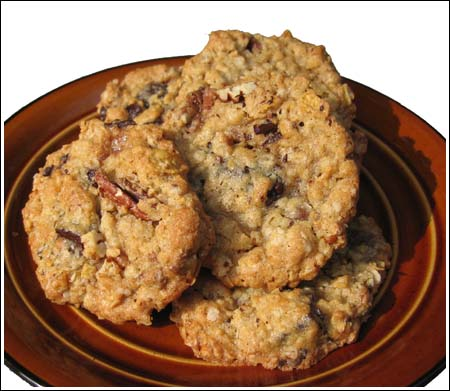 toffee-oat cookies