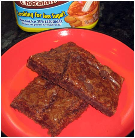 Brownies made with Nesquik