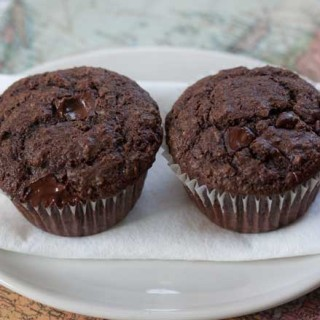One Bowl Chocolate Fiber Muffins