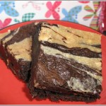 Chocolate Peanut Butter Cheesecake Marbled Brownies