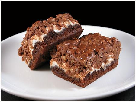 peanut butter marshmallow krispy brownies