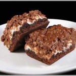 Peanut Butter Marshmallow Krispie Topped Brownies