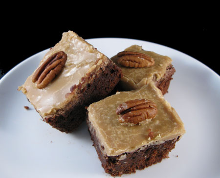 Praline Iced Brownies