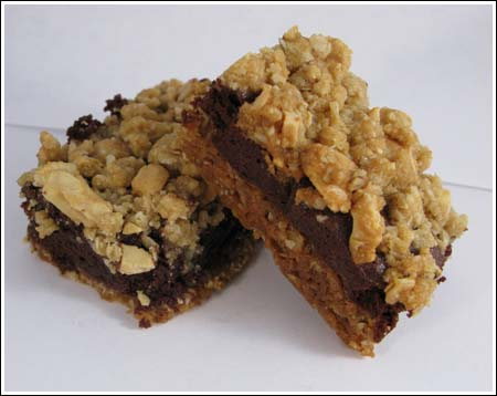Shortcut Cookies Oaxaca Fudge Bars with Cashew-Crumb Topping