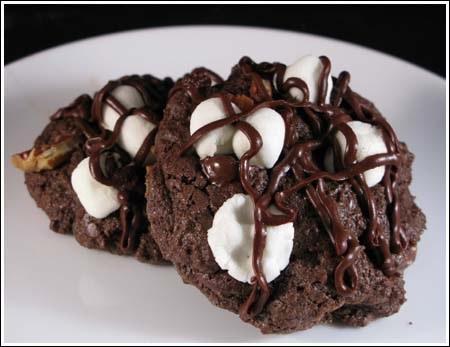 Rocky Road Chocolate Cookies