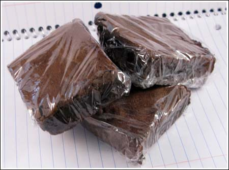 wrapped brownies