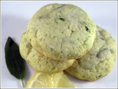 Lemony Sage and Basil-Flecked Cookies