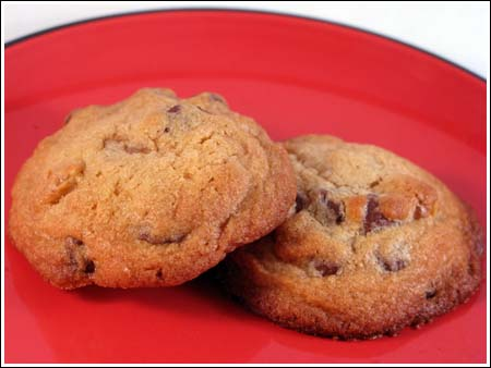 crunchy chocolate chip cookies