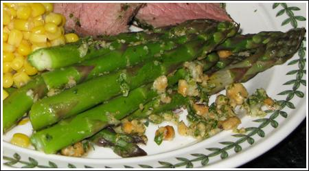 Asparagus with Hazelnut Gremolata