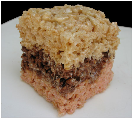 Layered Rice Krispie Treats