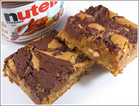 Marbled Peanut Butter Nutella Brownies