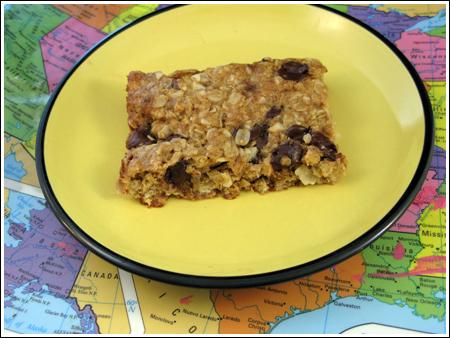 Coconut-Oatmeal Bars with Chocolate Chips