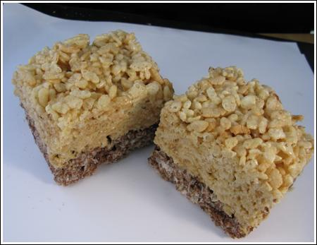 Triple Layer Rice Krispie Treats