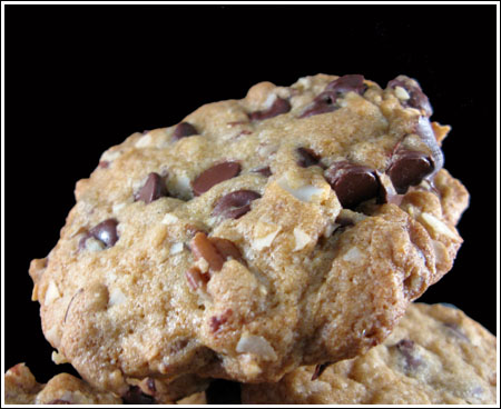 Chocolate Chip Pecan Coconut Cookies