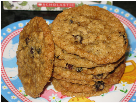 Thin, Chewy Oatmeal Cookies - Cookie Madness