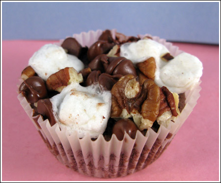 Rocky Road Fudge Brownie Muffin
