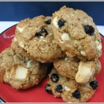 One Bowl Ginger, Blueberry, White Chocolate Chunk Oatmeal Cookies