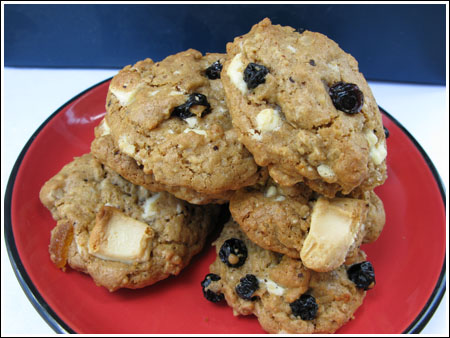 White Chocolate Blueberry Oatmeal Cookies Recipes — Dishmaps