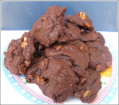 One Bowl Brownie Cookies