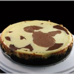 White Chocolate Marbled Cheesecake