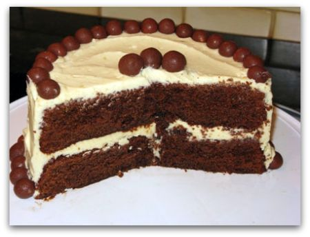 Malt Chocolate Cake
