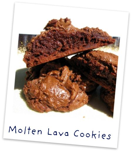 molten chocolate cookies