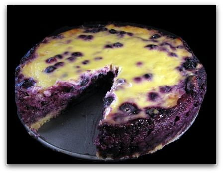 Nova Scotia Blueberry Sour Cream Cake
