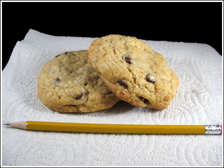 chocolate chip hard boiled egg cookies