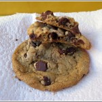 chocolate chip cookie with almond butter