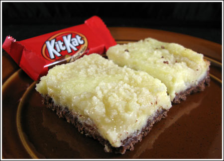 lemon bars with Kit Kat crust