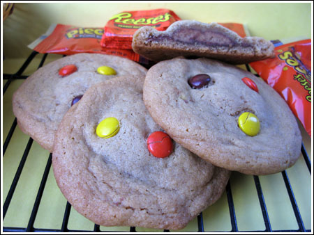 Reese\'s stuffed peanut butter cookies