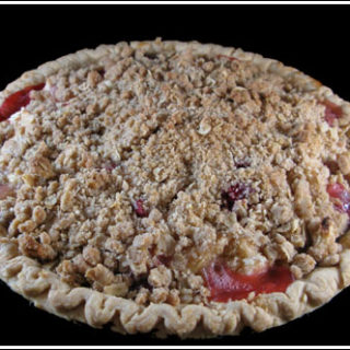 Crumb Topped Apple Cranberry Pie
