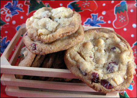 blissful cranberry cookies