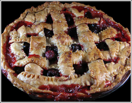 Excellent Double Crust Cherry Pie