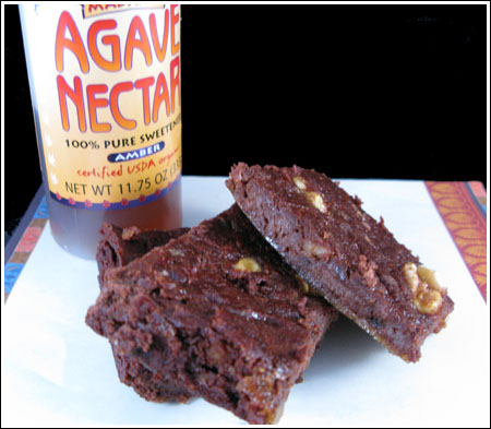 Agave Black Bean Brownies