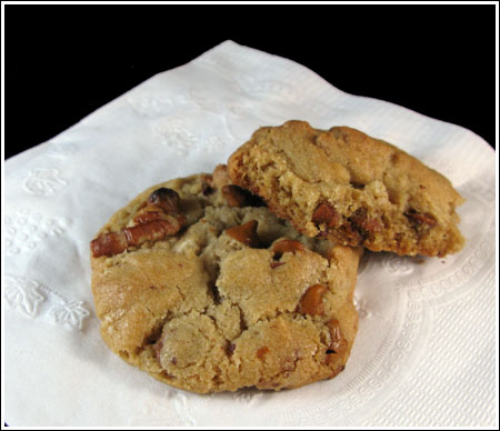Cinnamon Chip Pecan Cookies