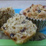 Oatmeal Chocolate Chip Muffins with Agave Nectar