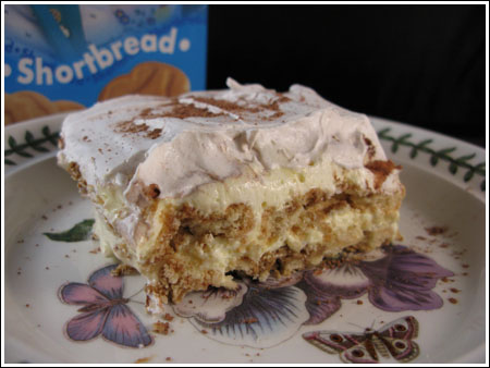 Reduced Calorie Tiramisu Made With Girl Scout Cookies