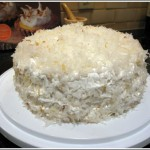 Pineapple Coconut Layer Cake with 7 Minute Frosting