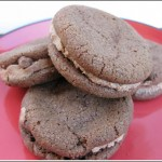 malted milk sandwich cookies